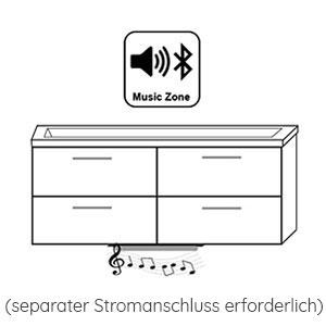 Indirekte Beleuchtung / Soundsystem: mit MusicZone 12V, 6W, inkl. Bluetooth-Steuerung