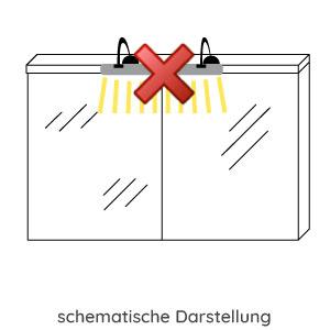 Aufsatzleuchte Spiegelschrank: ohne Aufsatzleuchte