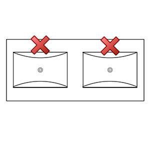 Hahnloch: ohne Hahnlöcher