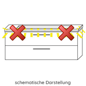 Waschtischunterschrank-Beleuchtung: ohne Waschtischunterschrankbeleuchtung