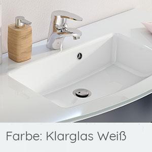 Waschtisch-Typ / -Farbe: Glaswaschtisch 121 cm
