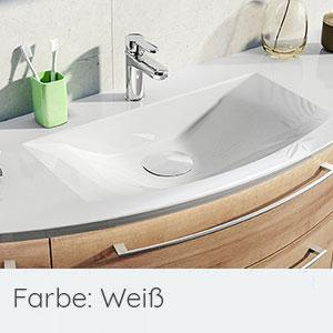 Waschtisch-Typ / -Farbe: Mineralmarmor-Waschtisch, Clou-System u. LED-Zusatzbel.