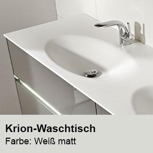 Waschtisch-Typ / -Farbe: Krion Doppel-Waschtisch Breite: 1830 mm