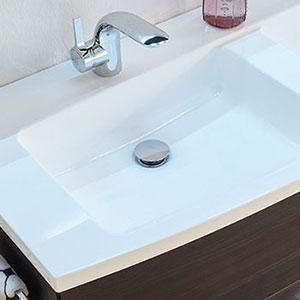 Waschtisch-Typ / -Farbe: Mineralmarmor-Doppelwaschtisch - 172 cm, Weiß Glanz