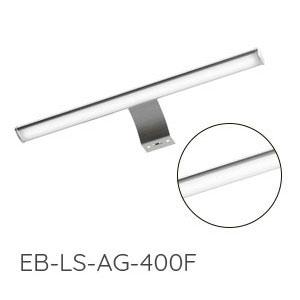 Aufsatzleuchte Spiegelschrank: 2x mit LED, Chrom Glanz, 12V, 4,5W, Breite: 400 mm