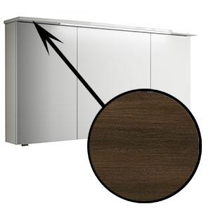 Spiegel-Beleuchtung: im Kranz - 6,5W, 1220 mm breit - Mokka Struktur quer