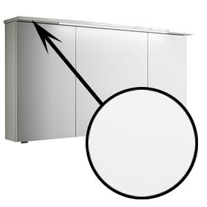 Spiegel-Beleuchtung: im Kranz - 6,5W, 1220 mm breit - Weiß Glanz