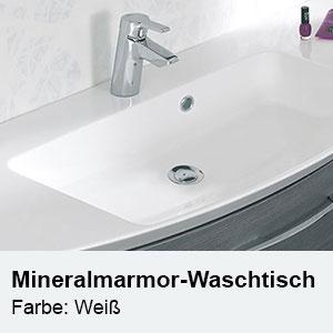 Waschtisch-Typ / -Farbe: Mineralmarmor-Waschtisch Weiß Breite: 1210 mm