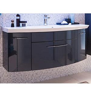 Waschtischunterschrank: 1 Auszug, 2 Drehtüren - B: 119 cm