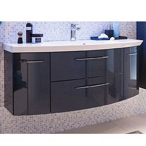 Waschtischunterschrank: 2 Auszüge, 2 Drehtüren - B: 119 cm