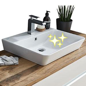Waschtisch-Typ: 2x Connect Air, Weiß Nr. 1 mit IdealPlus Beschichtung