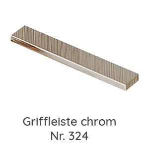 Griffvariante: Griffleiste chrom