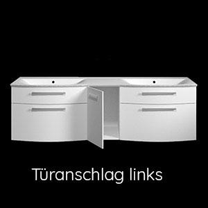 Ausführung Waschtischunterschrank: Türanschlag Links