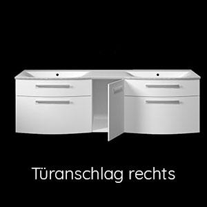 Ausführung Waschtischunterschrank: Türanschlag Rechts