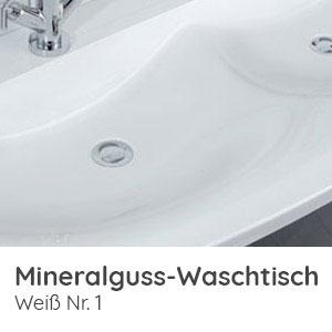Waschtisch-Typ / -Farbe: Mineralguss Weiß 100,6 cm Breite