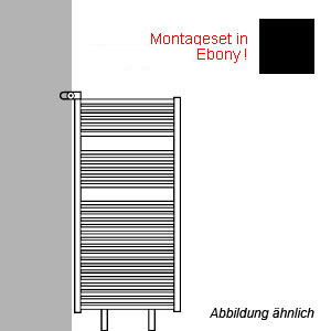 Montageart: als Raumteiler - inkl. Montageset in Ebony (schwarz-matt)