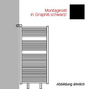 Montageart: als Raumteiler - inklusive Montageset in Graphit-schwarz