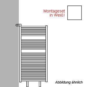 Montageart: als Raumteiler - inklusive Montageset in Weiß