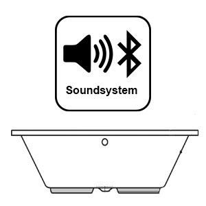 Soundsystem: mit Bluetooth Receiver inkl. 4 Lautsprecher