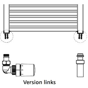 Anschlussvariante: Seitenanschluss + Mischbetrieb Set (Version links)