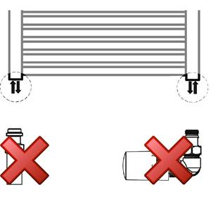 Anschlussvariante: Seitenanschluss ohne Mischbetrieb Set