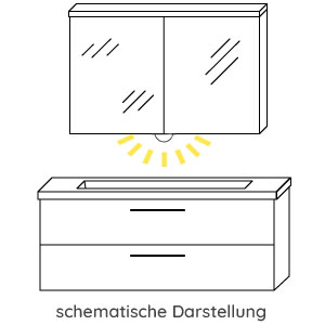 Waschtisch-Beleuchtung: mit - LED 5 Watt