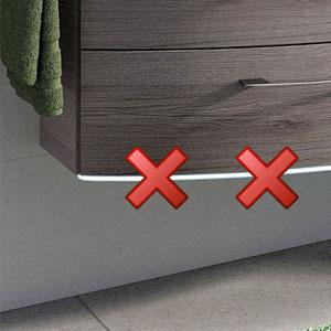 Waschtischunterschrank-Beleuchtung: ohne