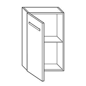 Ergänzungselement links: mit Tür