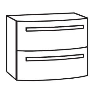 Waschtischunterschrank: mit 2 Auszügen
