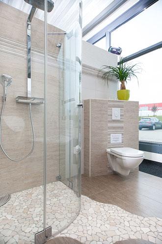 Beispiel für eine Duschkabine