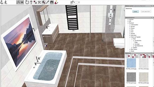 Ansicht der 3D-Badplanung in unserer Planungssoftware