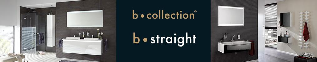 b-straight Badmöbel in klarem, schlichten Design