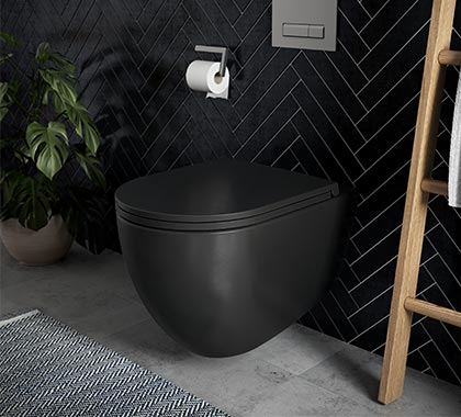 Badshop.de WC-Set in Schwarz