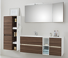 badm bel in holzoptik. Black Bedroom Furniture Sets. Home Design Ideas
