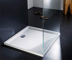 Quadratische Duschwanne für begehbare Dusche