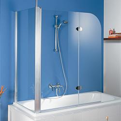 Eck-Duschwand für Badewanne