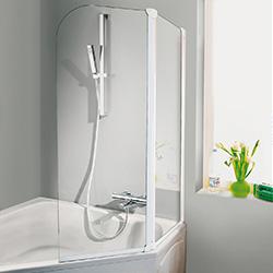 Duschwand für Eck-Badewanne