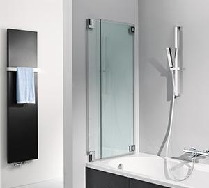 faltbare Duschwand für Badewanne