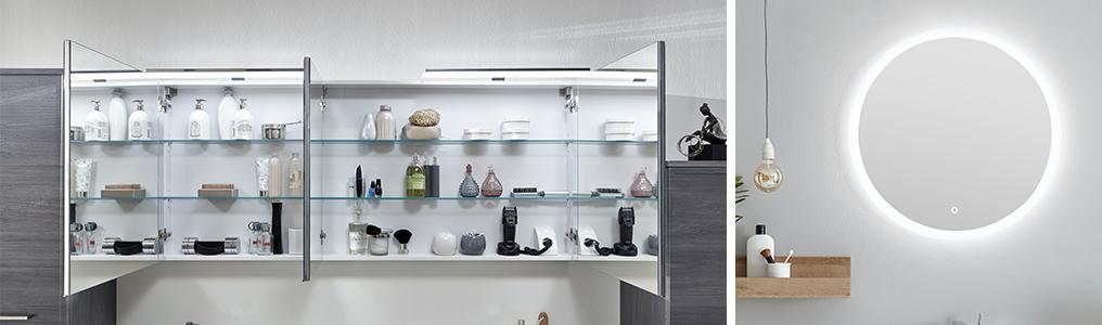 Spiegel oder Spiegelschränke mit Beleuchtung | badshop.de
