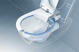 Wasserverlauf ohne Spülrand