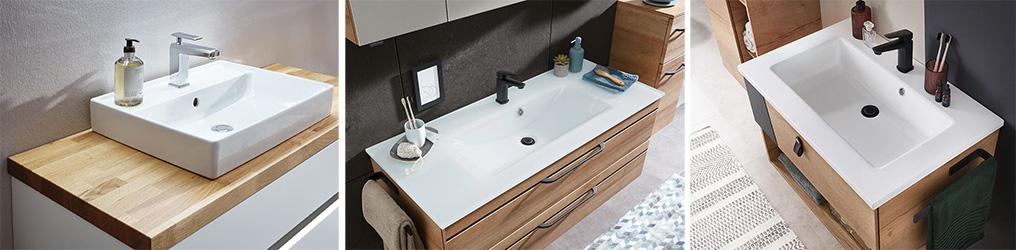 Waschbecken Materialien